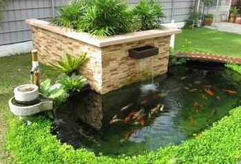phong thủy bể nước trong sân vườn mang lại may mắn