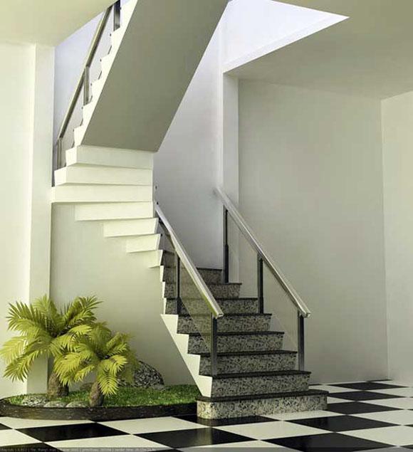 Cầu thang nên đặt ở những nơi thoáng đãng, sinh khí dồi dào ở trong căn nhà