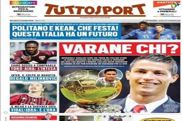 Ronaldo mất QBV 2018