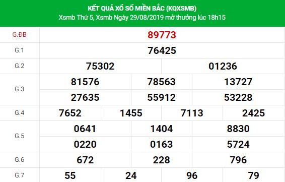 Soi cầu dự đoán XSMB Vip ngày 30/08/2019