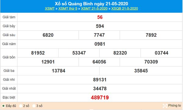 Dự đoán XSQB 28/5/2020 - KQXS Quảng Bình thứ 5