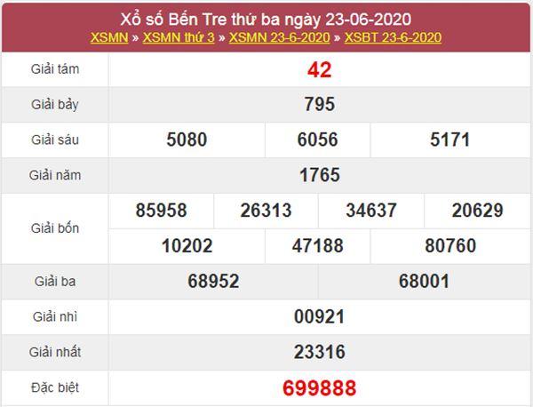 Dự đoán XSBT 30/6/2020 chốt KQXS Bến Tre thứ 3