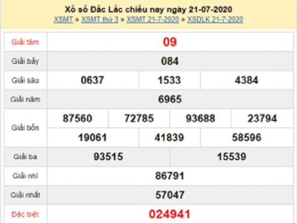 Bảng KQXSDL- Nhận định xổ số đắc lắc ngày 28/07 hôm nay