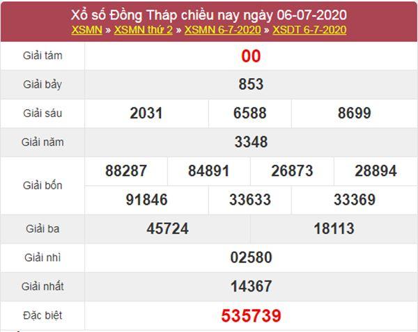 Dự đoán XSDT 13/7/2020 chốt KQXS Đồng Tháp thứ 2