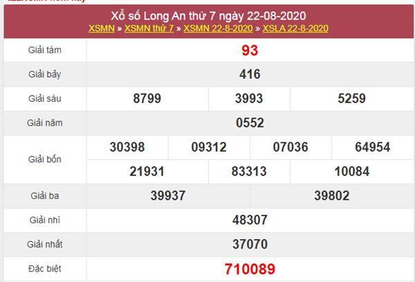 Soi cầu XSLA 29/8/2020 chốt lô Long An thứ 7 cực chuẩn