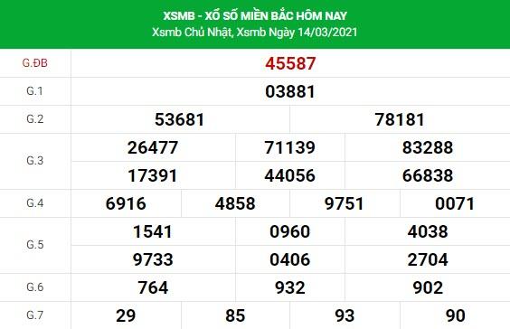 Soi cầu dự đoán XSMB Vip ngày 15/03/2021
